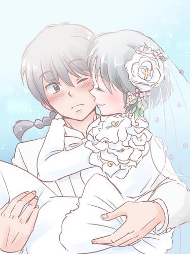 akane tendo images ranma and akane wedding wallpaper and