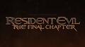 Resident Evil: The Final Chapter - Logo