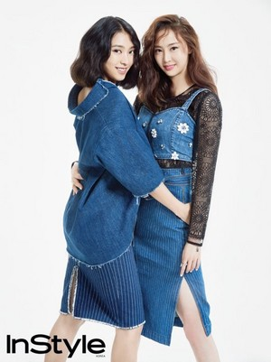 SISTAR's Bora and Dasom work the denim look for 'InStyle'