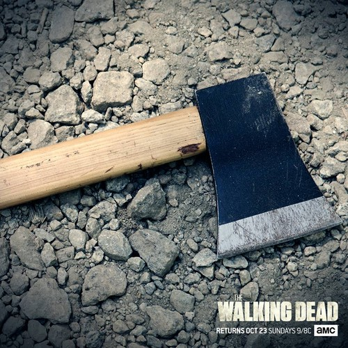 The Walking Dead Wallpaper With A Hatchet And Cleaver Called Season 7 New World