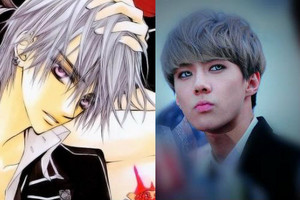 Sehun as Zero from Vampire Knight
