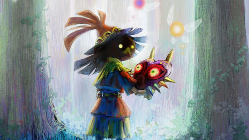 The Legend Of Zelda Wallpaper With A Bouquet Entitled Skull Kid