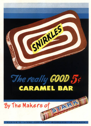 Childhood Memories wallpaper called Snirkles caramel bar  Stark Candy Company