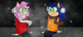 SonAmy   Winter   Redone - sonic-x fan art