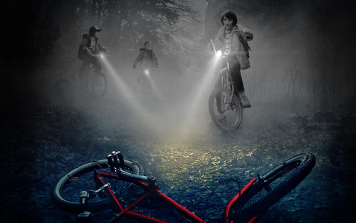 Stranger Things fondo de pantalla with a cycling, a bicycling, and a mountain bike titled Stranger Things fondo de pantalla