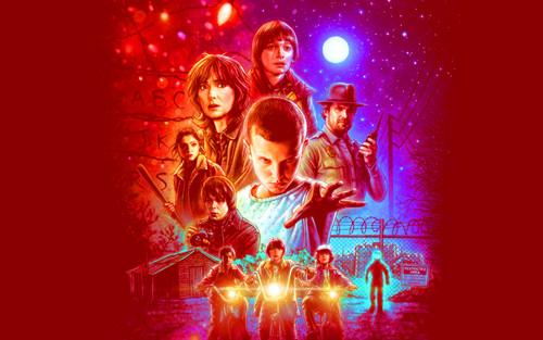 Stranger Things wallpaper with a show, concerto called Stranger Things wallpaper