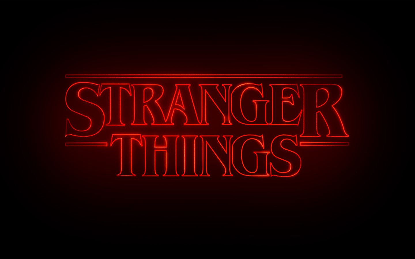 Stranger Things Logo kertas dinding