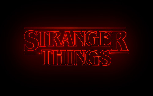 Stranger Things wallpaper possibly with a sign called Stranger Things Logo wallpaper