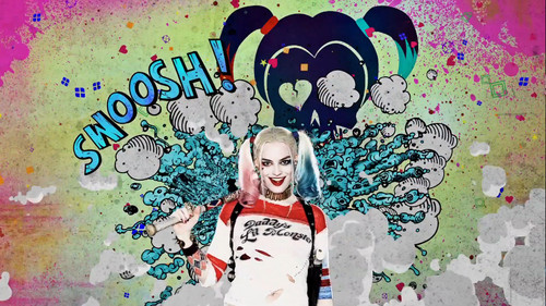Harley Quinn wallpaper possibly with Anime entitled Suicide Squad - Advance Ticket Promo - Harley Quinn