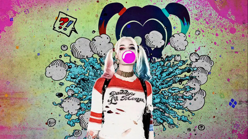 Harley Quinn wallpaper entitled Suicide Squad - Advance Ticket Promo - Harley Quinn