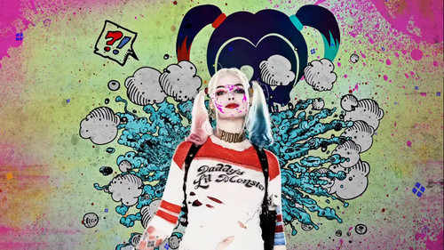 Harley Quinn wallpaper with Anime entitled Suicide Squad - Advance Ticket Promo - Harley Quinn