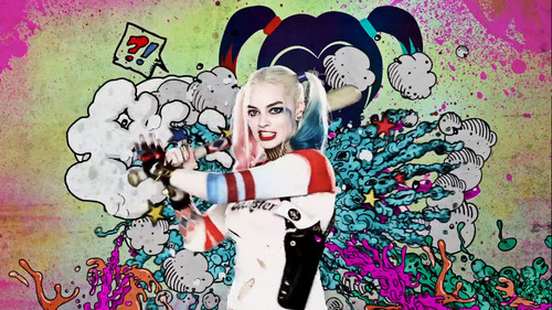 Harley Quinn wallpaper containing Anime called Suicide Squad - Advance Ticket Promo - Harley Quinn