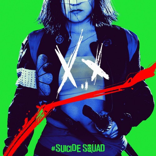 Suicide Squad 바탕화면 probably with a 소매 없는 느슨한 상의, 휘장 and a surcoat, 외투 titled Suicide Squad - Neon Poster - Katana