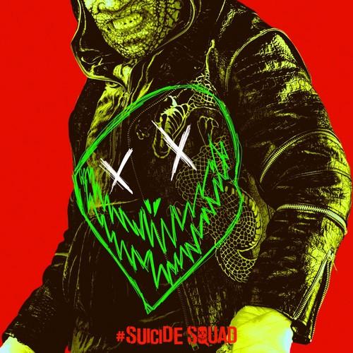 Suicide Squad fondo de pantalla entitled Suicide Squad - Neon Poster - Killer Croc