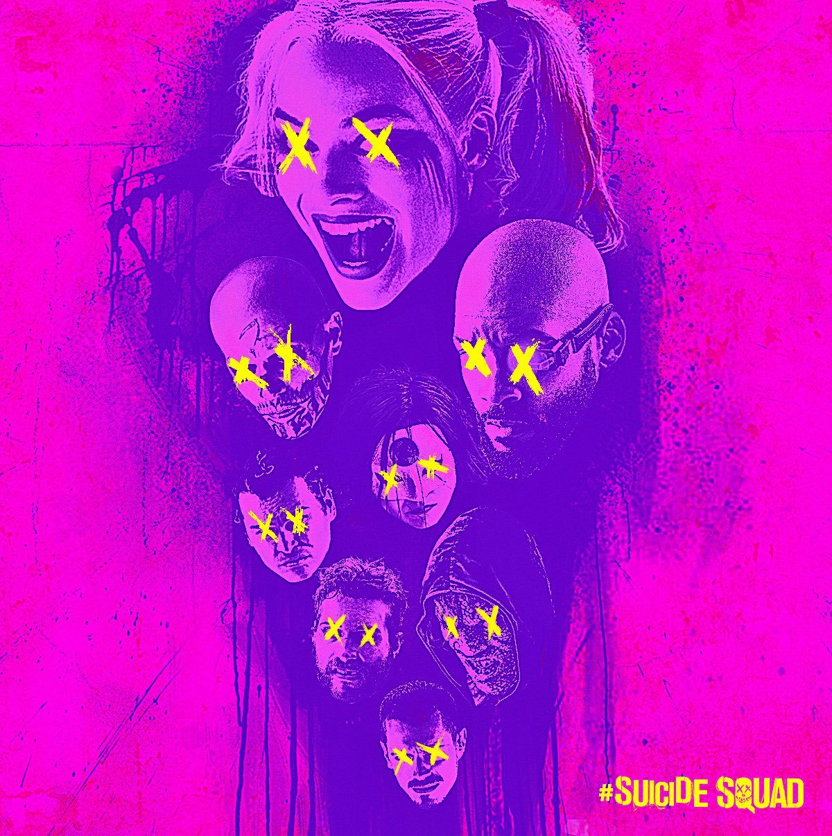 Suicide Squad - Neon Poster - The Skwad