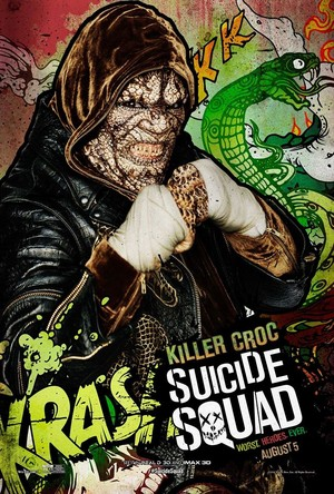 Suicide Squad Poster - Adewale as Killer Croc