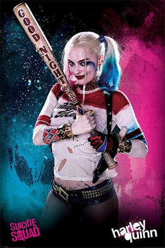 Harley Quinn wallpaper possibly containing a concerto and a guitarist titled Suicide Squad Poster - Harley Quinn