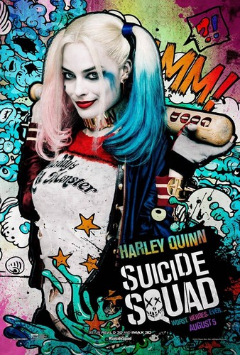 Harley Quinn wallpaper containing Anime entitled Suicide Squad Poster - Harley Quinn