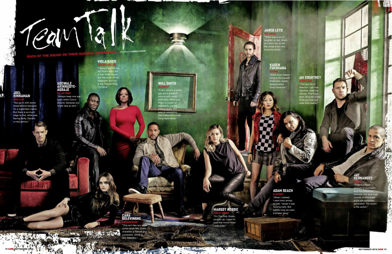 Suicide Squad in Empire Magazine - 'Team Talk' - September 2016