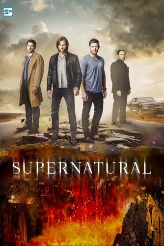 Supernatural wolpeyper with a apoy titled Supernatural - Season 12 Poster
