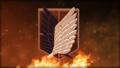 Survey Corp again, but on fire this time.  - shingeki-no-kyojin-attack-on-titan fan art