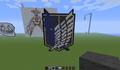 Survey Corps once more, now in Minecraft  - shingeki-no-kyojin-attack-on-titan fan art