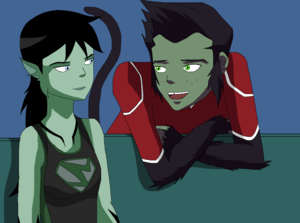Swamp Girl and Beast Boy