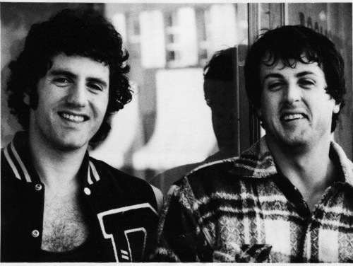 Sylvester Stallone wallpaper probably with a sign, a reading room, and a brasserie entitled Sylvester Stallone and brother, Frank Jr