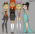 TDPI Halloween Girls - total-drama-island fan art