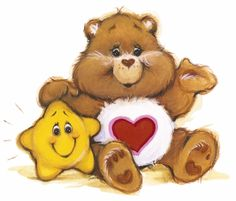 Tenderheart oso, oso de with estrella Buddy