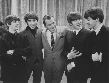 Childhood Memories wallpaper containing a business suit, a suit, and a three piece suit titled The Beatles on The Ed Sullivan Show