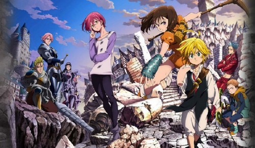 Nanatsu No Taizai karatasi la kupamba ukuta with anime titled The Seven Deadly Sins