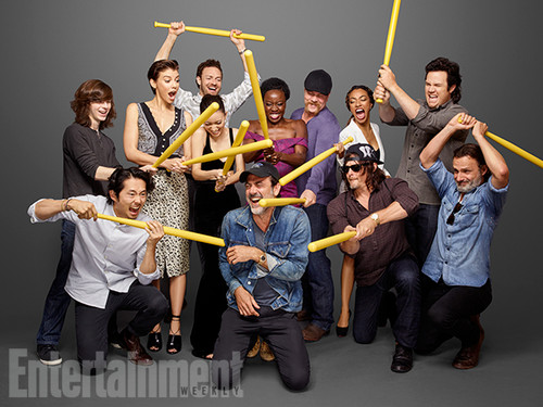 The Walking Dead karatasi la kupamba ukuta entitled The Walking Dead Cast