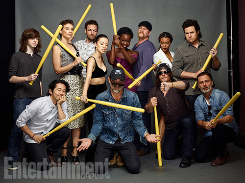 The Walking Dead پیپر وال titled The Walking Dead Cast