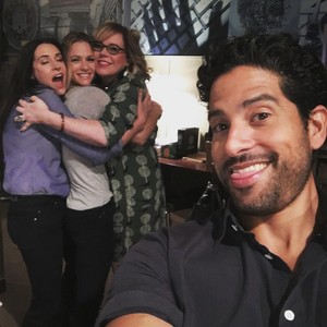 The lovely Ladies and Adam on set of Criminal Minds Season 12