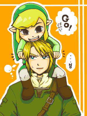 Toon Link and Twilight Princess Link