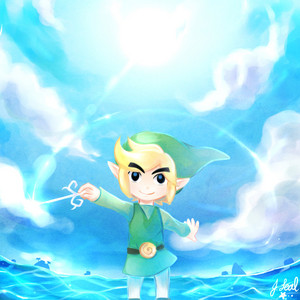 Toon Link with The Wind Waker