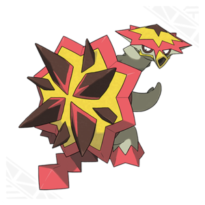 Turtonator, the Blast penyu, kura-kura Pokemon