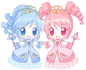 Twin Princesses of the Mysterious Planet chibis