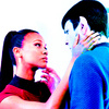 Star Trek (2009) photo with a portrait entitled Uhura and Spock