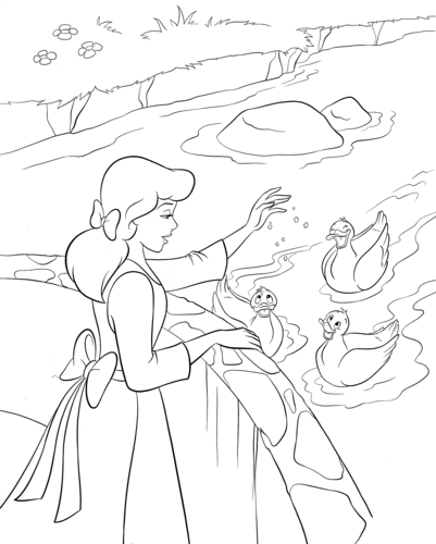 mga tauhan ng walt disney wolpeyper titled walt disney coloring pages princess sinderella - Walt Disney Coloring Books