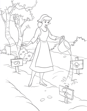 Walt Disney Coloring Pages - Princess Lọ lem