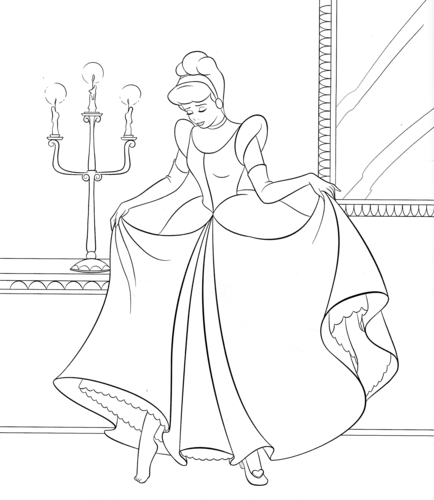 walt disney characters wallpaper possibly with anime entitled walt disney coloring pages princess cinderella - Coloring Pages Princess Cinderella