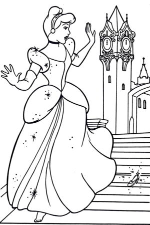 Walt 迪士尼 Coloring Pages - Princess 灰姑娘