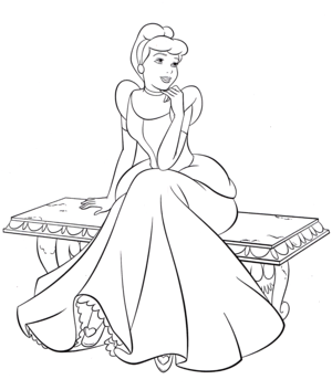 Walt Disney Coloring Pages - Princess cinderella