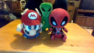 Wind's Collectables: Super Mario 64, Alien, and Deadpool Plush