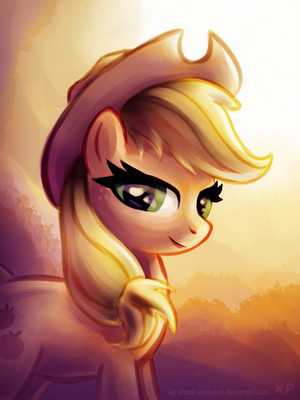 applejack sunset portrait