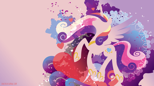 Princess Cadence wolpeyper called cadance silhouette pader