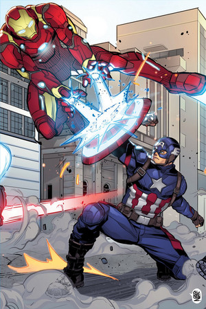 captain america vs ironman door chickenzpunk d9zt371