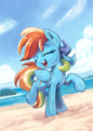 dashing - rainbow-dash fan art